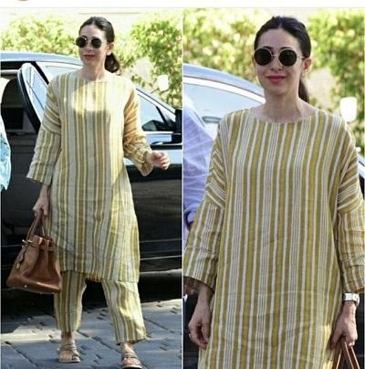 Office wear Beautiful Khadi Long Kurta With Straight Pant