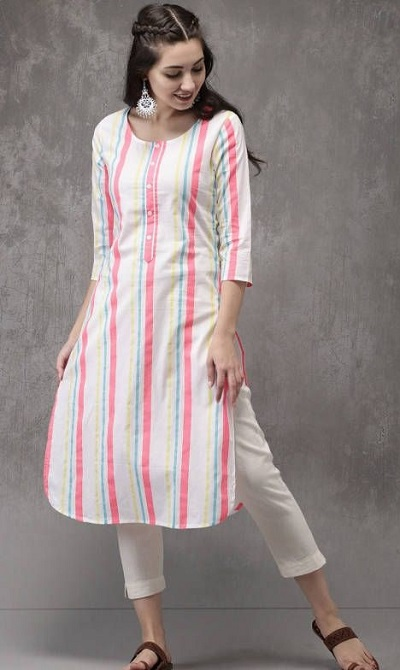 Simple Kurta and Cropped Pants For Office