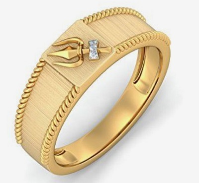 Stylish Traditional Band Pattern Gold Ring For Men