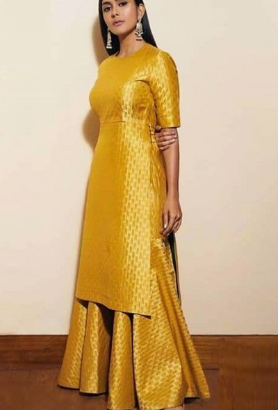 Brocade Party Wear Sharara Suit For Ladies
