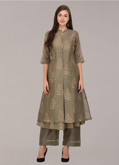 Double layered Centre opening kurta for festivals