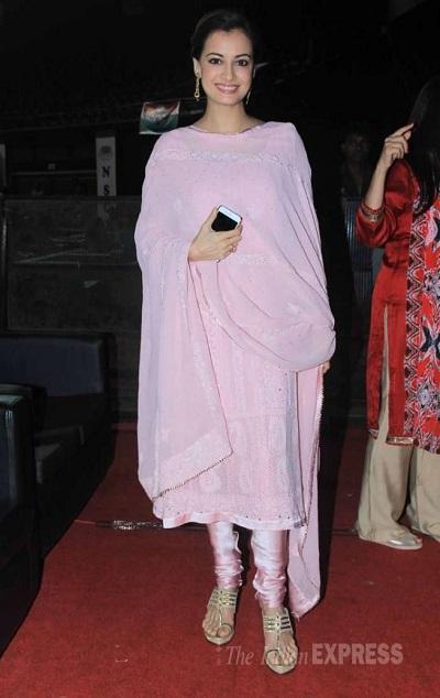 Pink Kurta Churidar With Chikankari Work