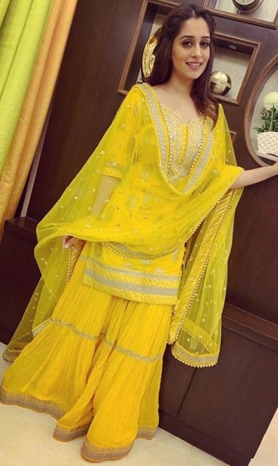 Embroidered Yellow Gown For Haldi