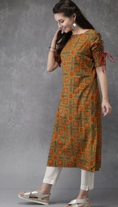 Casual wear kurti and pant set for women