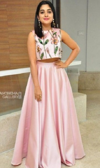 Crop Top With Satin Skirt Pattern