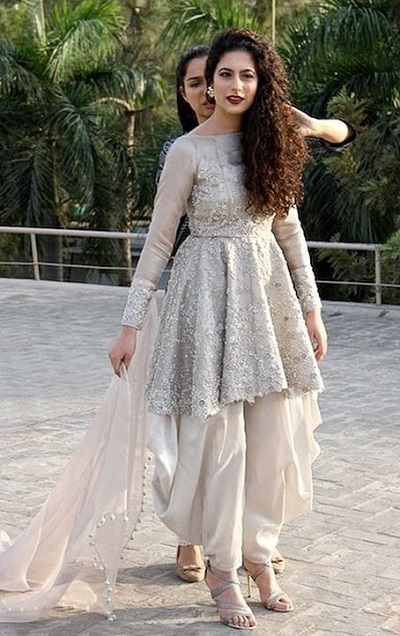 Frock Style Suit Design With Dhoti Pants