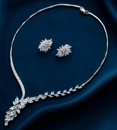Gorgeous Necklace Set With Matching Earrings And Stones