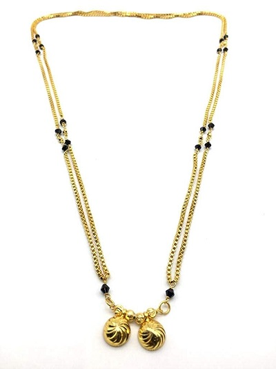 Long chain double chain style mangalsutra design