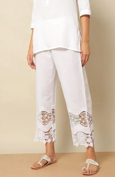 Stylish Cotton lace work Pants for women