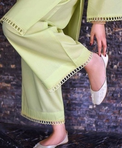 Ankle length palazzo pants for suit