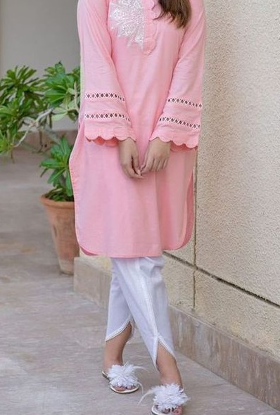 Dhoti inspired front cut ankle length Pants for women