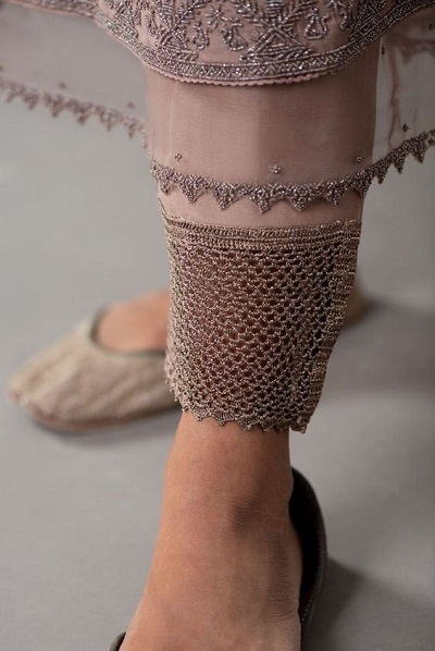 Thread work embroidered Pants for party wear suits